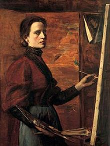 Self Portrait, Elizabeth Nourse , 1892