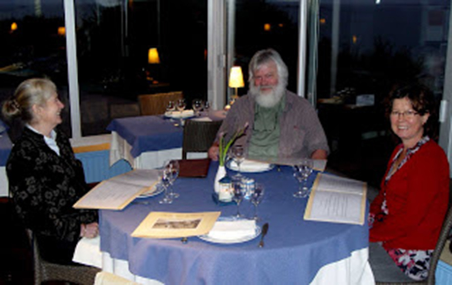 Du Colle Restaurant, with Jeannine Cook, left, Patrick at centre and Britgitte on the right, Rundle Cook photograpiher
