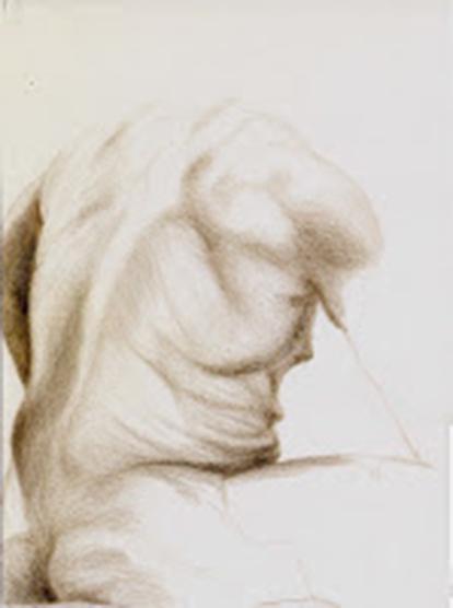 Life study - 45 minutes - Prismacolor.Jeannine Cook artist