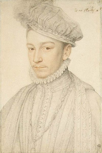 Portrait of Charles IX, 1560s, Italian pencil and red chalk, Francois Clouet, (Image courtesy of the Hermitage Museum)