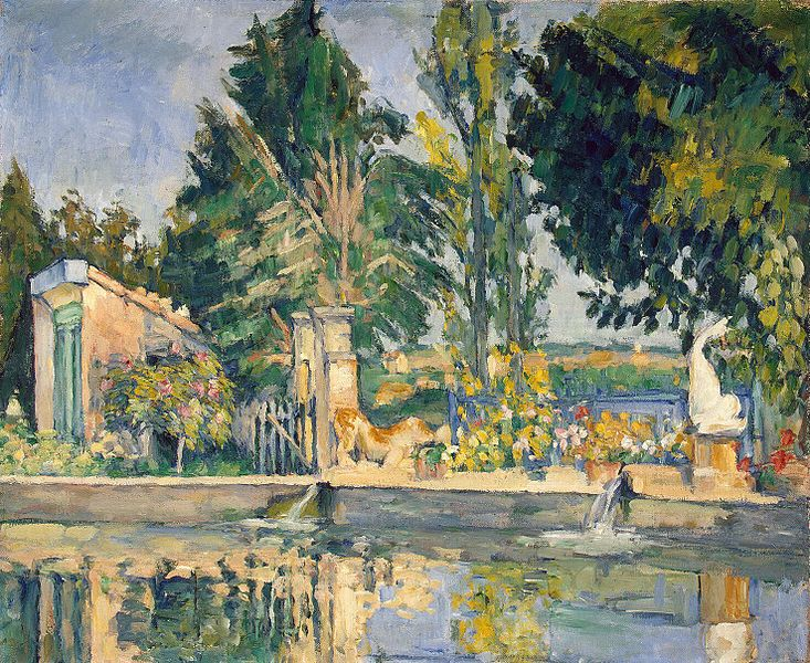 Jas de Bouffan. The Pond , c. 1876, Paul Cezanne (Image courtesy of the Hermitage Museum)