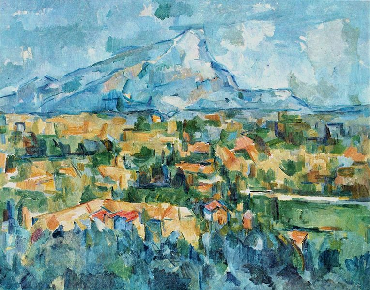 Mont Sainte Victoire, oil on canvas, 1904, Paul Cezanne (Image courtesy of the Philadelphia Museum)