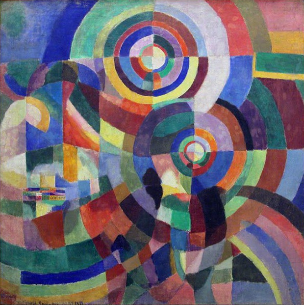 Sonia Delaunay, 1914, Prismes électriques, oil on canvas, (Image courtesy of Musée National d'Art Moderne, Centre Pompidou, Paris)