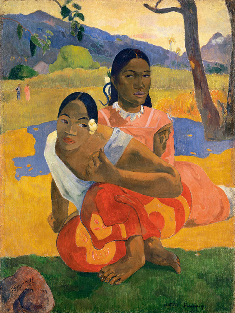 Paul Gauguin, Nafea Faa Ipoipo? (When Will You Marry?) 1892, oil on canvas (Image courtesy of the Beyeler Foundation)