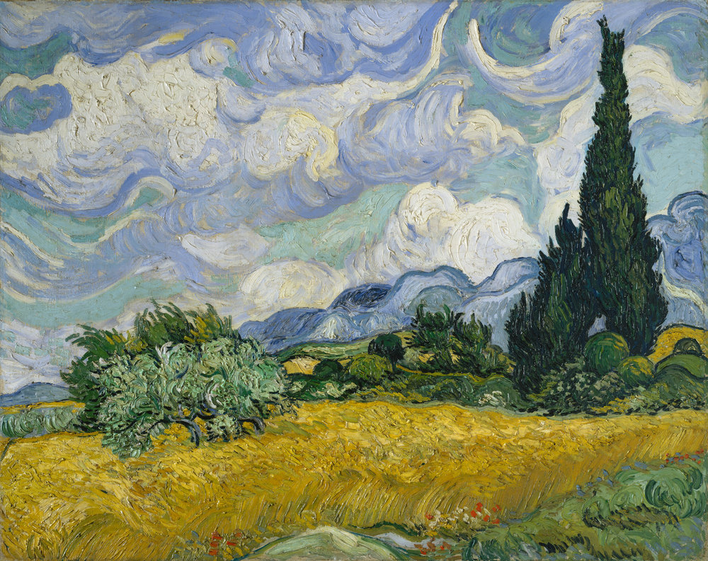 Wheat Field with Cypresses, Vincent van Gogh, (Image courtesy of the Metropolitan Museum)