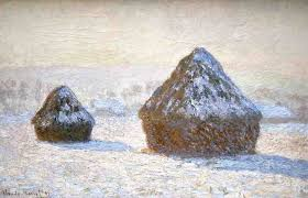 Haystacks - Snow Effect, 1891, Claude Monet (Image courtesy of the J. Paul Getty Museum)