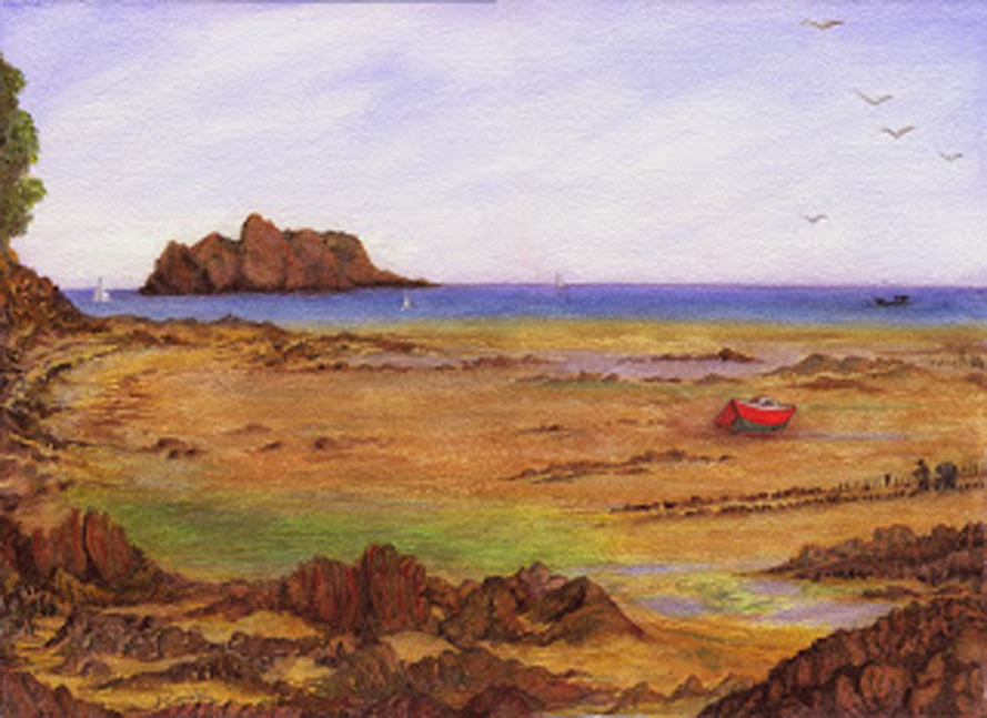 La Baie de Radegonde, aquarelle, Jeannine Cook artiste