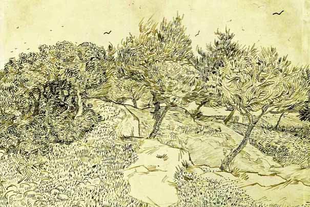 Olive Trees (1888), Vincent van Gogh (Courtesy of the Musée des Beaux-Arts, Tournai.)