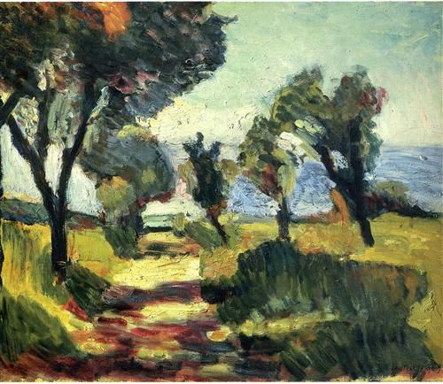 Henri Matisse - Olive Trees, 1898, (Image courtesy of Pushkin Museum of Fine Art, Moscow)