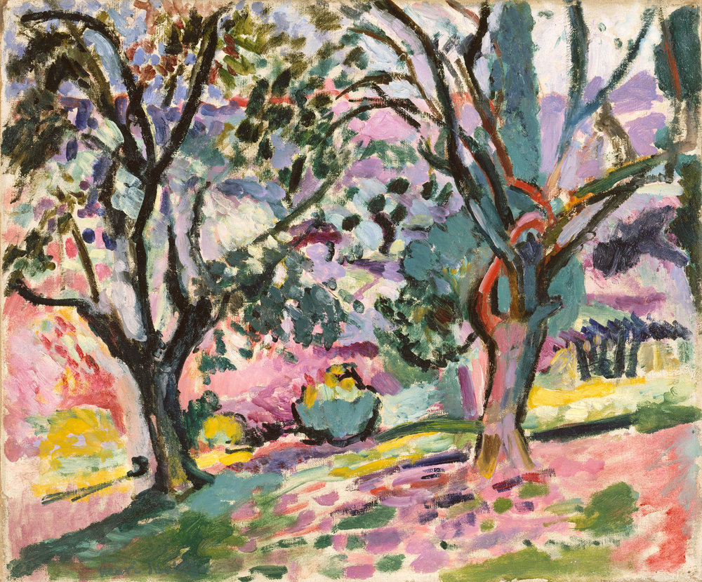 Olive Trees at Collioure, c 1906, oil on canvas, Henri Matisse, (Image courttesy of Metropolitan  Museum)