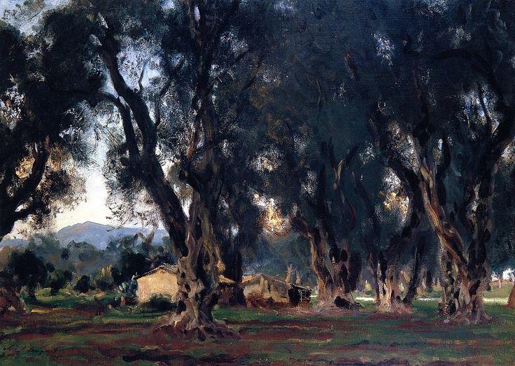 Olive Trees at Corfu, 1909, John Singer Sargent (Image courtesy of the ArtStack.com)