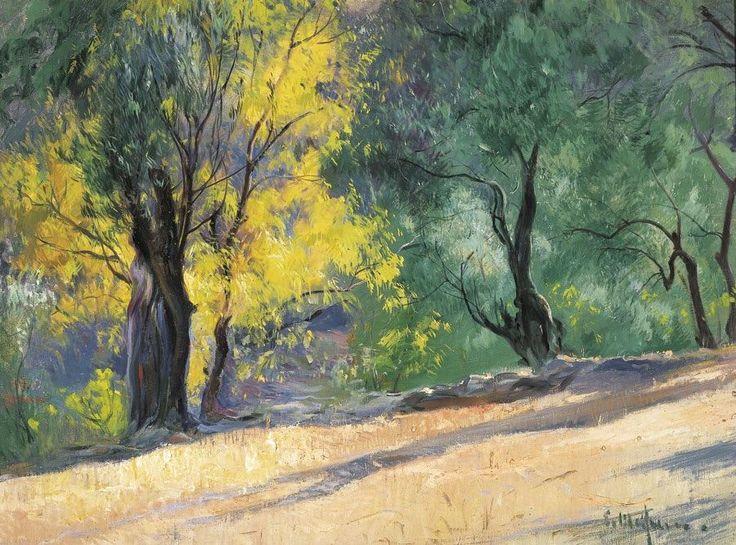 Under the Sun , Landscape with Trees - Eliseo Meifrén i Roig