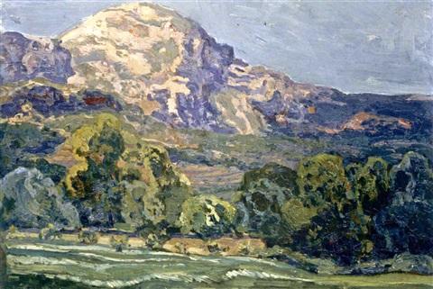El Puig Tomir, Mallorca (Mount Tomir, Mallorca), Hermenegildo Anglada Camarasa (Image courtesy of ArtNet)