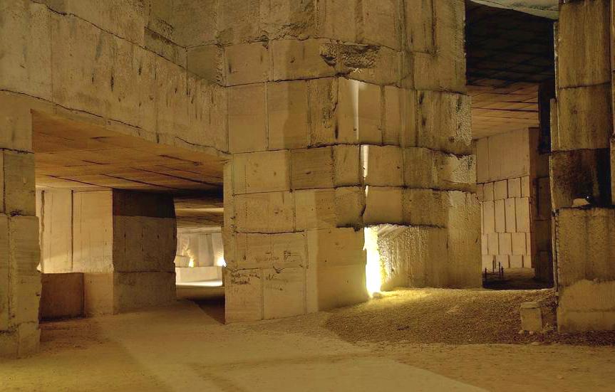 The underground Quarry d'Aubigny, Taingy, Burgundy