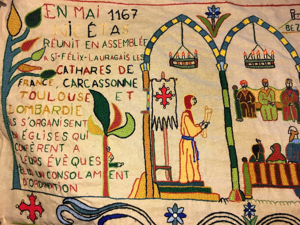 1167, the first meeting of the Cathars in Carcassonne to organise their separate church. (Photography J. Cook)