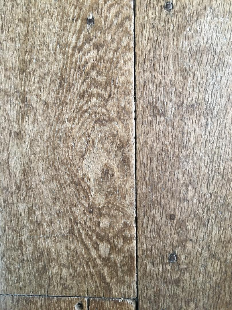 "Detail of an oak floor board, Haddon Hall. The boards were at least 18"" wide, from mighty trees. (Photograph J. Cook)"