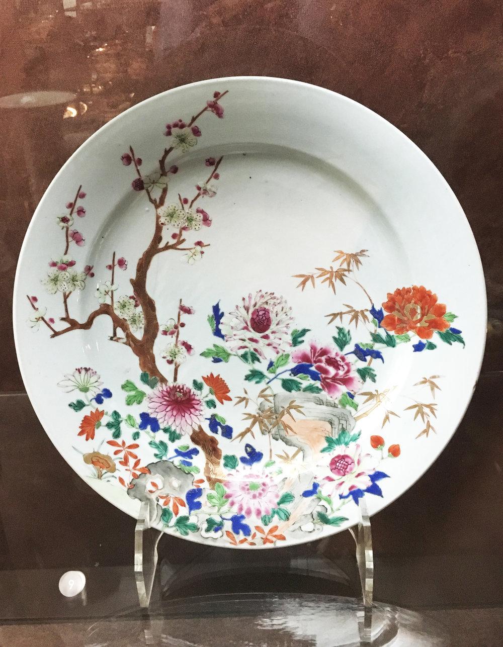 A Dish celebrating flowers, China, Qing dynasty, ca. 1730-1745, porcelain. In the Museu Calouste Gulbenkian, Lisboa. (Photograph J. Cook)