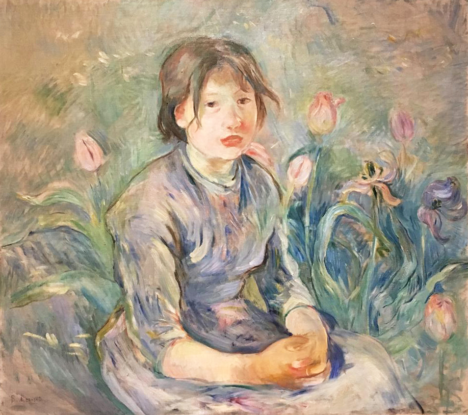 Peasant Girl among the Tulips, oil on canvas, 1890, Berthe Morisot (Image courtesy of The Dixon Gallery and Gardens)