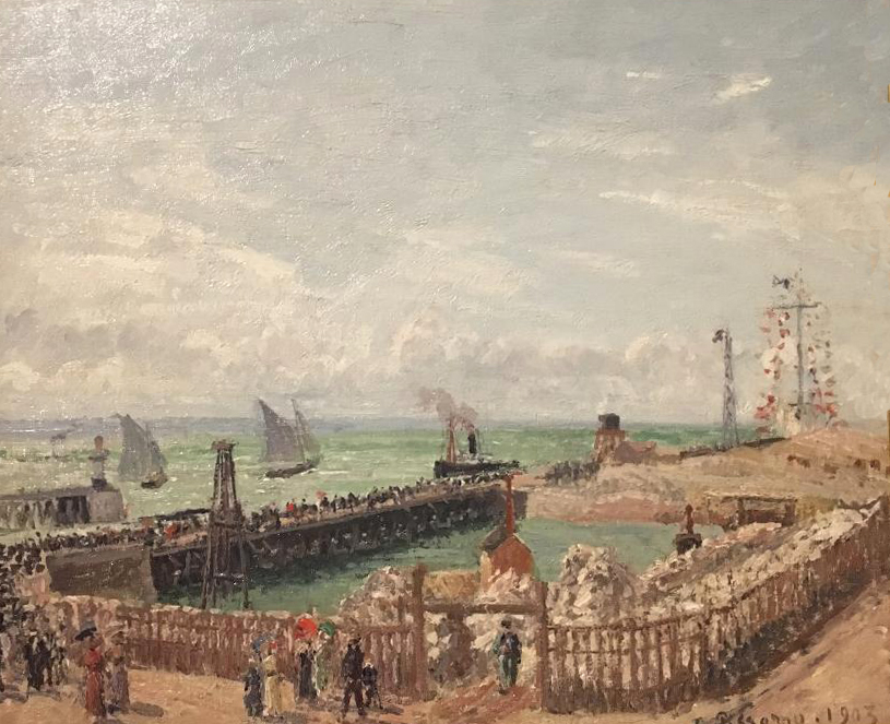 The Jetty at Le Havre, High Tide, Morning Sun, oil on canvas, 1903, Camille Pissarro (Image courtesy of The Dixon Gallery and Gardens)