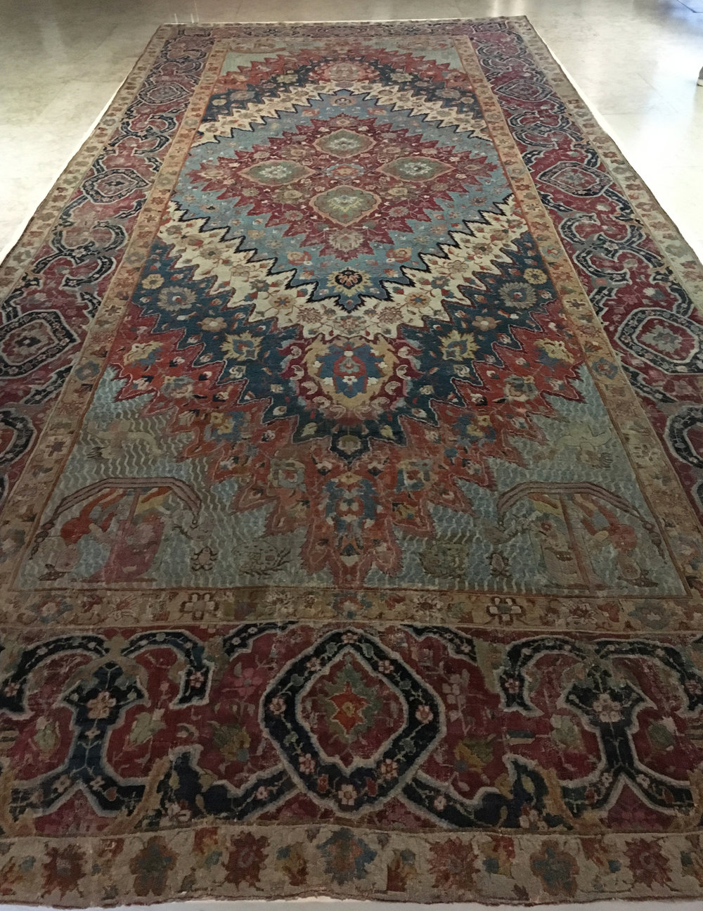 """Portuguese carpet"", Persia, Khorasan?, 17th century, Safavid period, wool pile. Calouste Gulbenkian Museum, Lisbon (Photograph J. Cook)"
