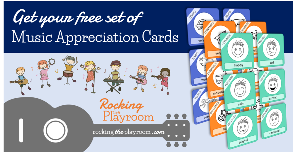 Music Appreciation Cards from Rocking the Playroom