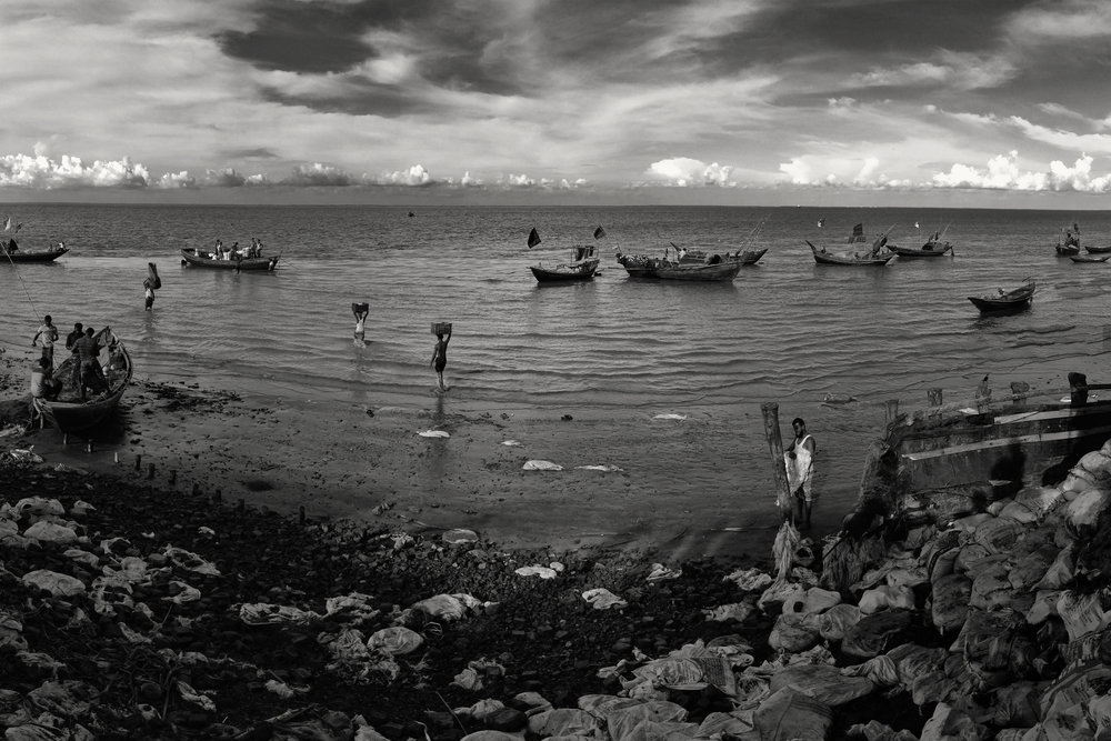 This dock usually sees hundreds of boats in the hilsa fishing season. The year this was taken (2014) was the worst fishing season in 35 years, the locals said.