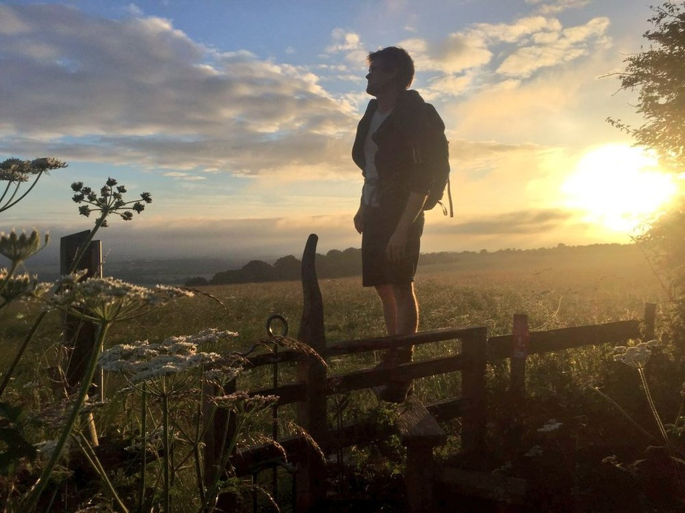 @OllyDavy walked 20miles along the Ridgeway through the night