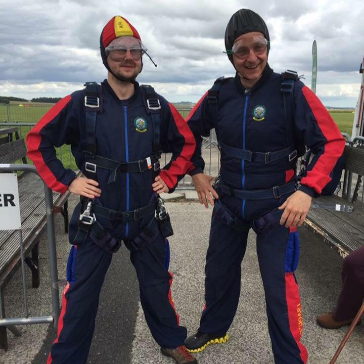 Jen & Craig did their first skydive