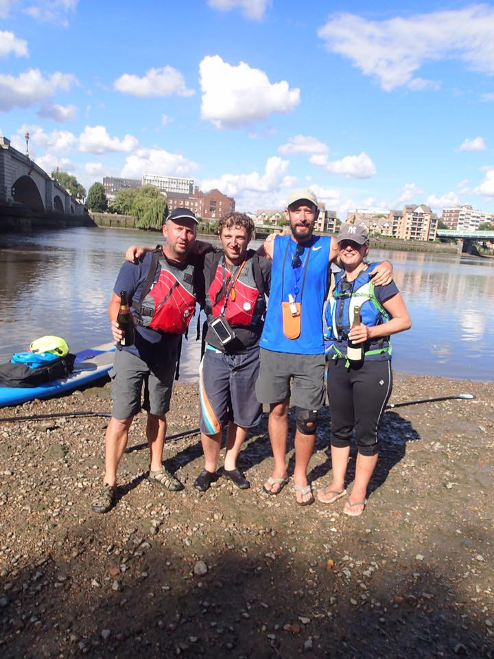 Will, Penny, Marcus & Neil paddled from Bristol to London & raised over £1000 for Wild Night Out