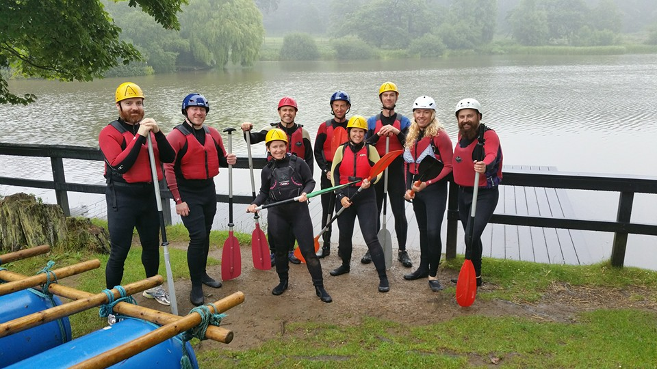 Jono & his stag-do went wild on a raft raising £90 for Wild Night Out
