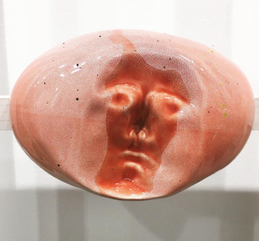 Abstraction of a form, shape or presence - Jennifer Tee, 2016,Glazed Ceramic