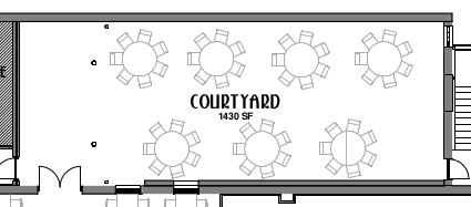 Basic Courtyard Floorplan (right is rear/south)