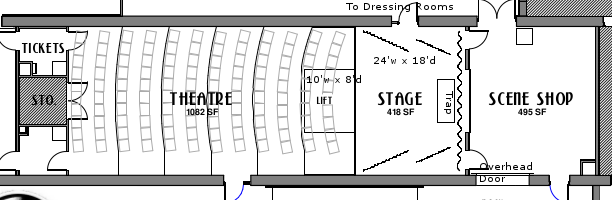 Basic Theatre Floorplan (left is toward Broad Street)