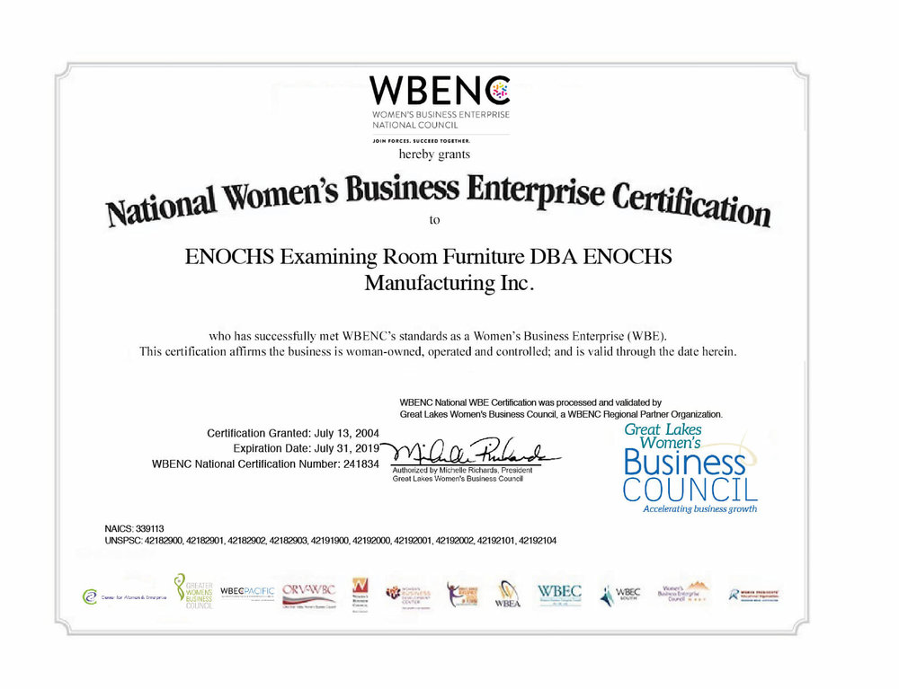 ENOCHS is proud to be a Woman Owned Business — ENOCHS Examining Room ...