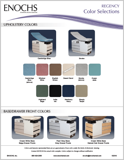 REGENCY Color Selections