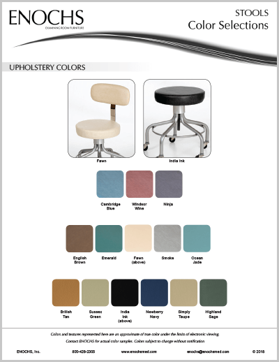 Physician Seating Color Selections