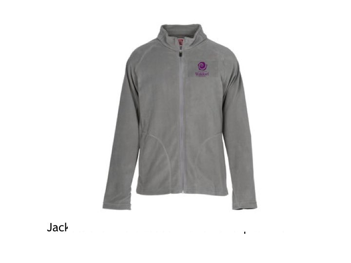 Grey fleece available with purple embroidery or Purple fleece with white embroidery