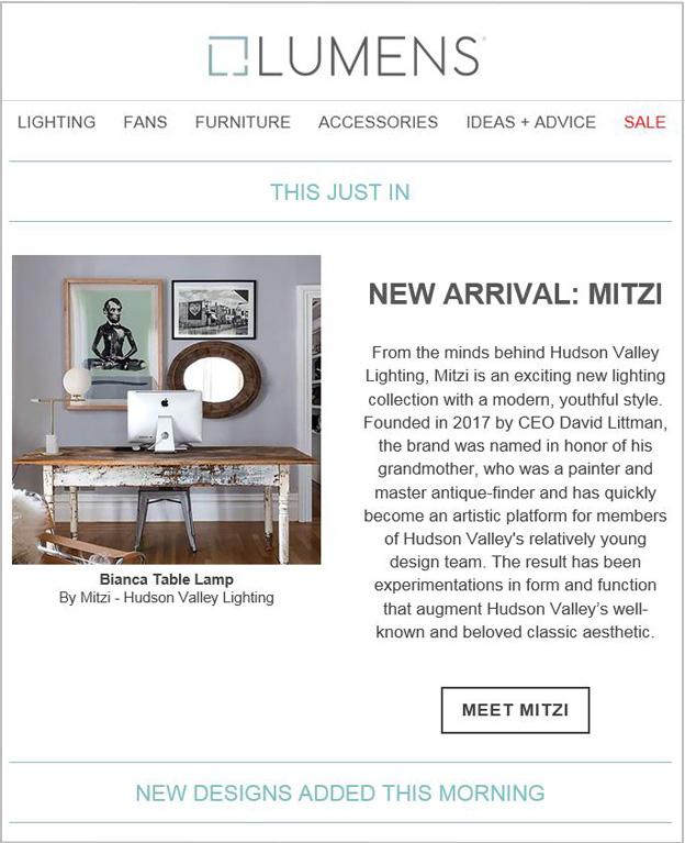 New Designs Email - Lumens
