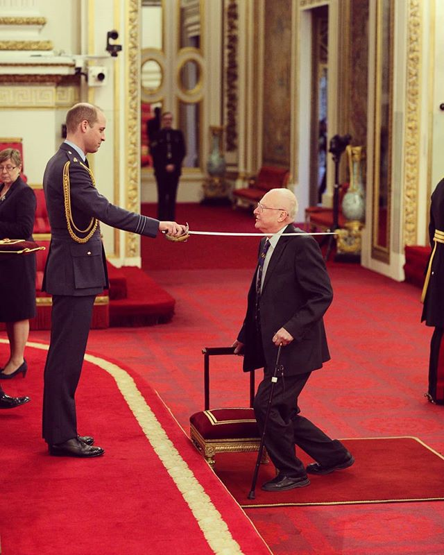 A century after #Einstein predicted the existence of #GravitationalWaves, our very own Prof. James Hough helped to prove him right.  Today, Jim was knighted for his contribution to physics and astronomy.  A true UofG world-changer 🌎 Arise Sir Jim 🎉🥇👑 #WorldChangingGlasgow #TeamUofG #gravitationalwaves #LIGO #alberteinstein #physics #astronomy #astrophysics #knighthood #royalfamily #jameshough #uofgravity #science #jimhough #princewilliam #universityofglasgow #glasgowuni #glasgowuniversity #UofG #UofGlasgow #scotlandisnow