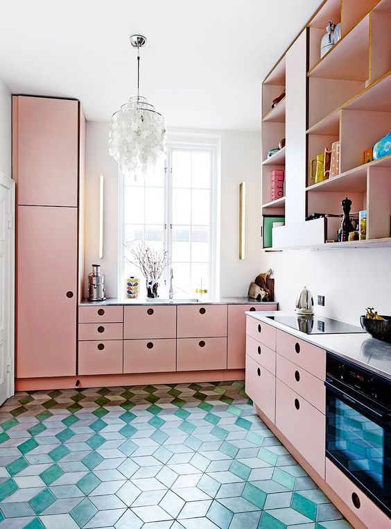 i m thinking pink and this is why budget kitchen makeover update