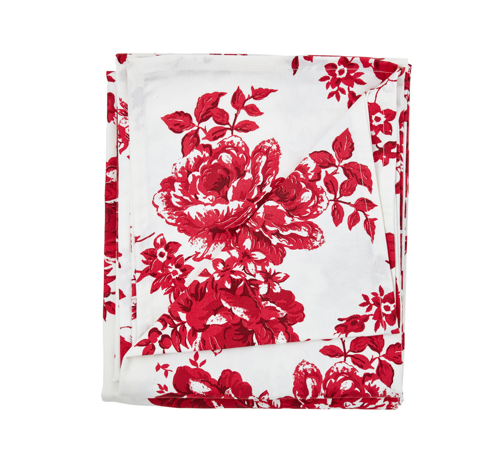 Vintage Rose Red Tablecloth.jpg