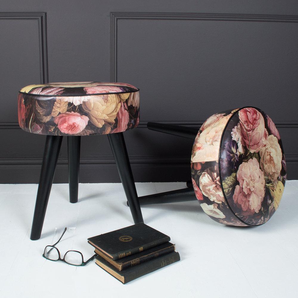 http://www.miafleur.com/floral-romance-stool