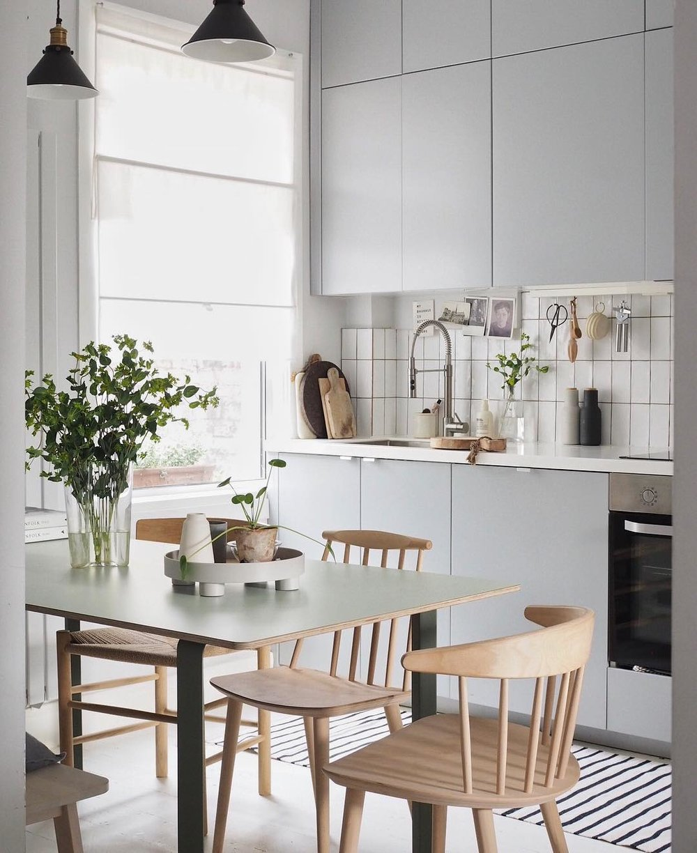Cate St Hill's calming kitchen - Image credit Cate St Hill