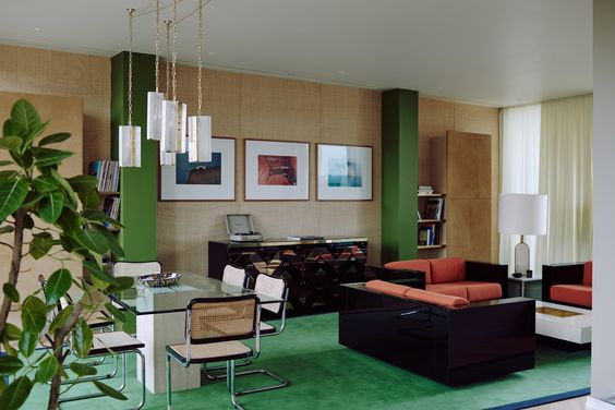 Bella Freud and Maria Speake apartment designed at BBC Television Centre, Image Credit -Dezeen.