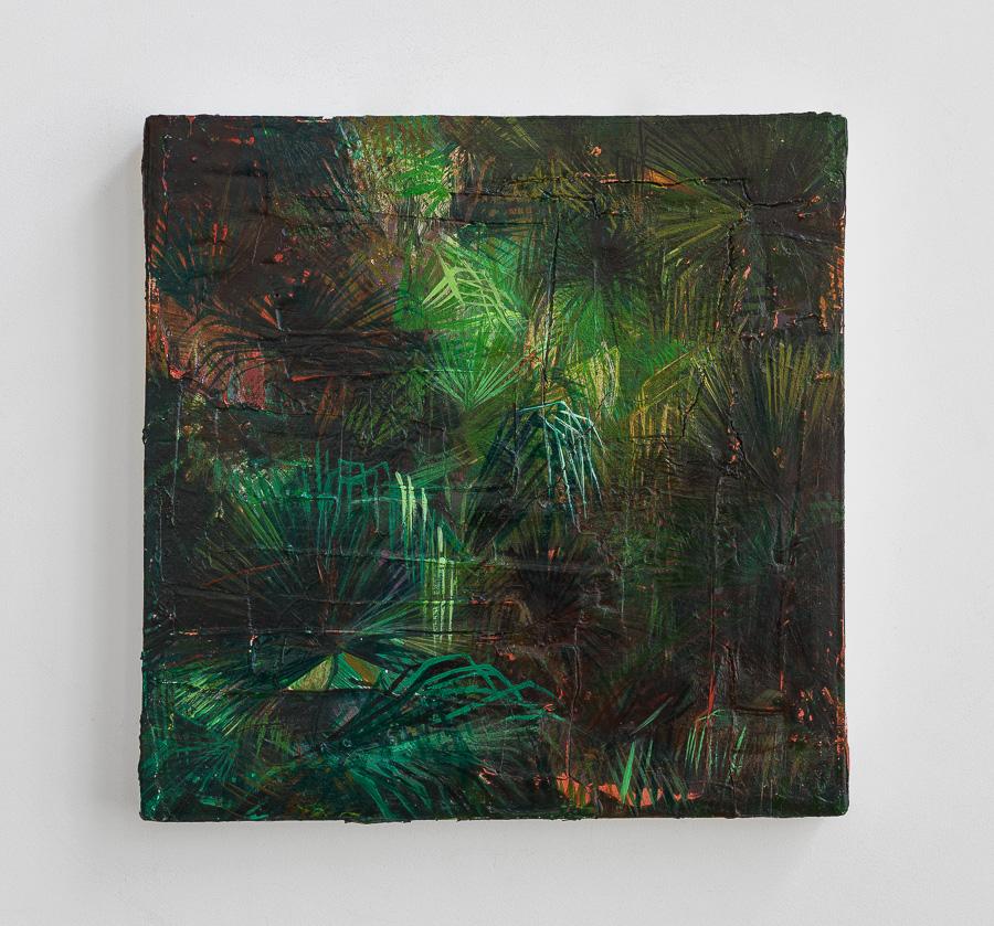 série Jungles - 2015  enduit et acrylique sur toile  40 x 40 x 4 cm