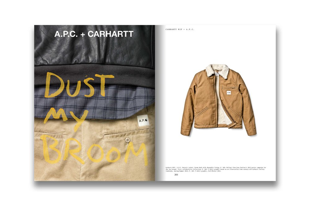 Carhartt WIP + A.P.C., poster designed by Jean Touitou, 2013.