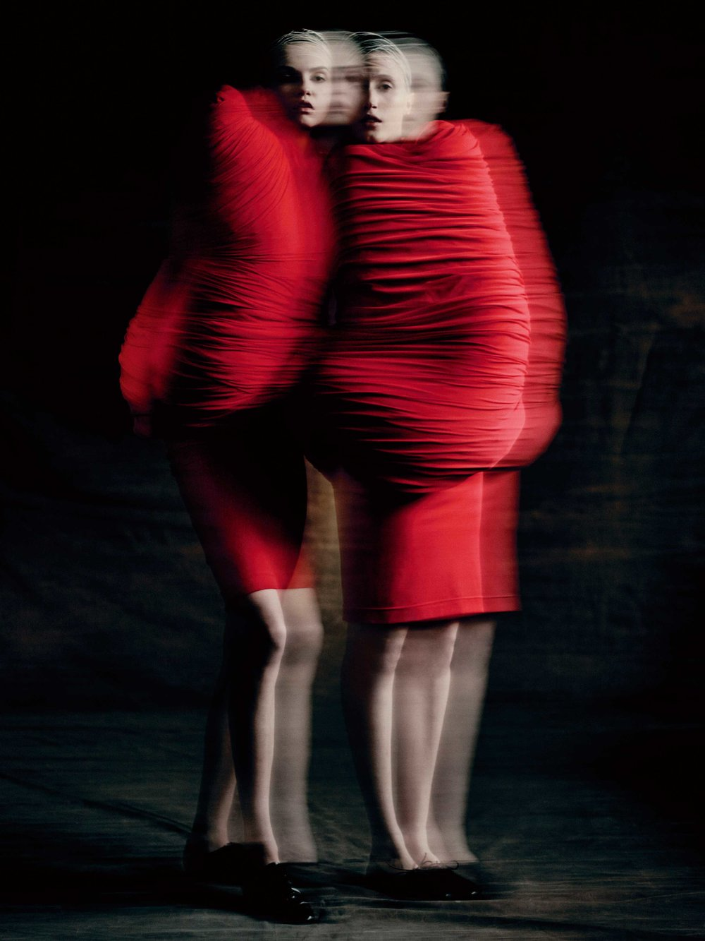 Rei Kawakubo for Comme des Garçons: Body Meets Dress–Dress Meets Body (S/S'97; Courtesy of Comme des Garcons). Photograph by © Paolo Roversi; Courtesy of The Metropolitan Museum of Art