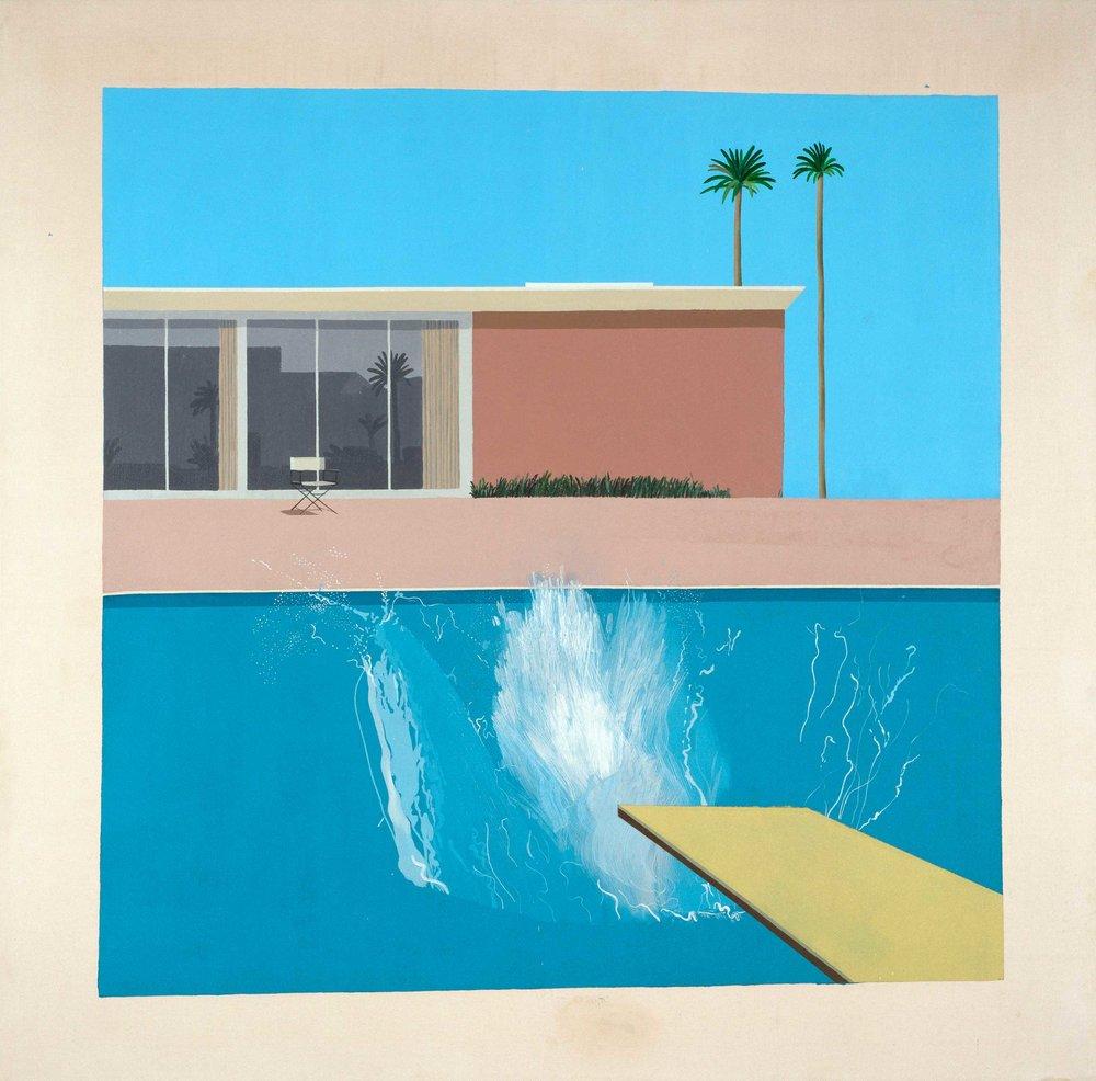 A Bigger Splash | 1967 | Acrylic on canvas | Tate, purchased 1981 © David Hockney, Photo Credit: ©Tate, London 2017