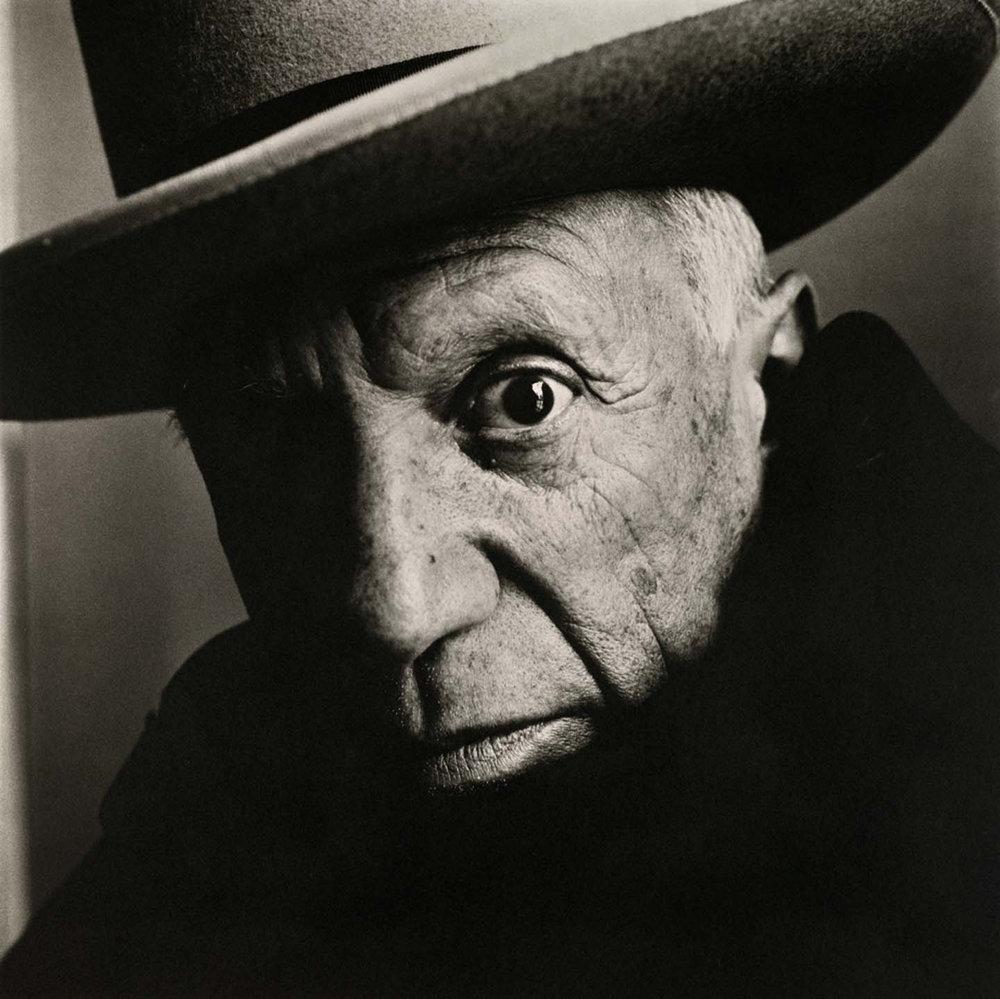 Pablo Picasso at La Californie, Cannes, 1957 © The Irving Penn Foundation