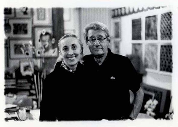 Carla Sozzani and Helmut Newton in her Studio, Milano | 1999 © Lorenzo Camcardi, couresy Fondazione Sozzani